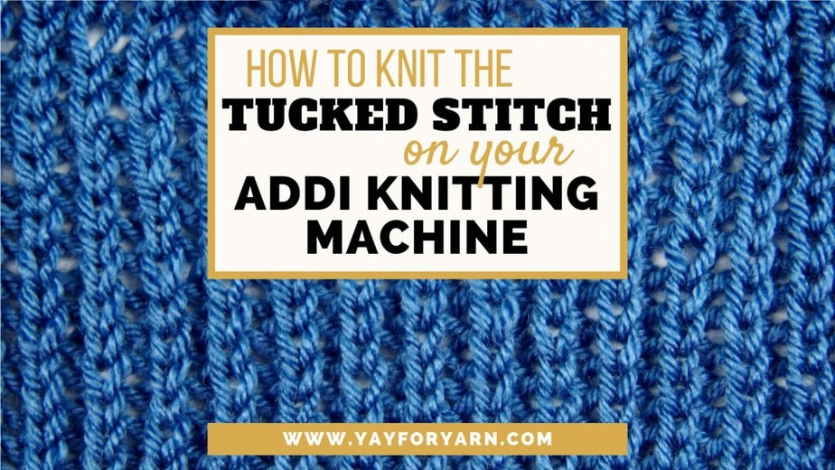This stitch is the closest thing to Brioche Knitting that you can make on your Addi Knitting Machine!