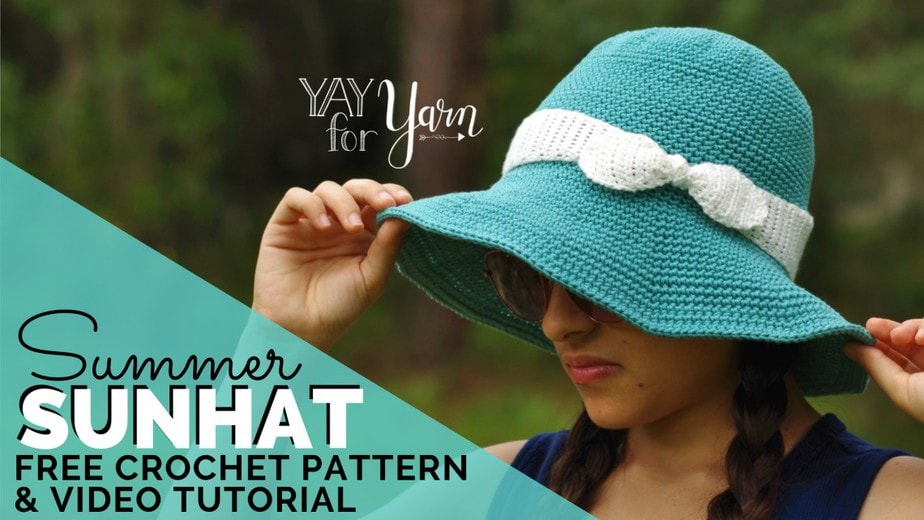 Free Sunhat Crochet Pattern for Babies, Children, and Adults