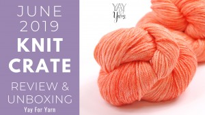 "June 2019 KnitCrate yarn - Vidalana Aloft, chainette yarn in ""tiger lily"" colorway (soft, peachy orange)"