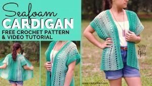 Free Crochet Pattern for lacy, lightweight kimono cardigan.