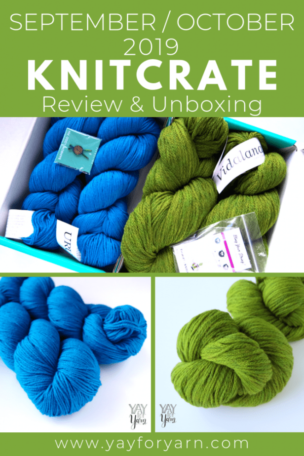Check out the beautiful yarns I got in my KnitCrates for September and October! Plus, don't miss this exclusive coupon code, just for my readers. #knitcrate #luxuryyarn #knittingyarn #crochetyarn #handdyedyarn #yarncoupon #yarnsubscription