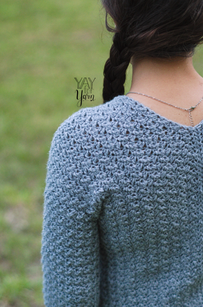 how to crochet a sweater - free pattern and video tutorial