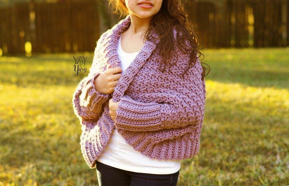 Easy Crochet Blanket Sweater - Free Pattern for beginners