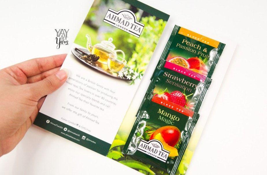 ahmad tea sample pack - november 2019 knitcrate