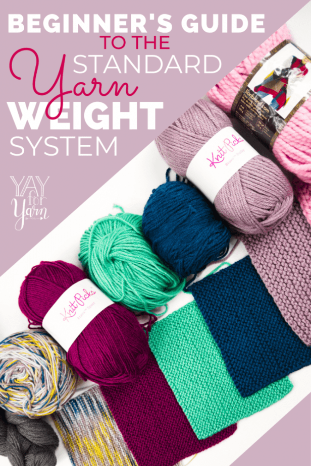 Need to choose yarn for a project? How do you know if your yarn is the right thickness? Use the Standard Yarn Weight System to find out! #crochetyarn #knittingyarn #knittingproject #crochetproject #crochettips #knittingtips