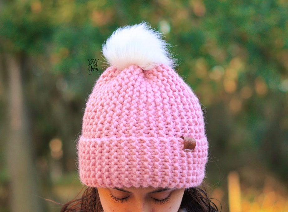 super bulky chunky hat knitting pattern from a rectangle