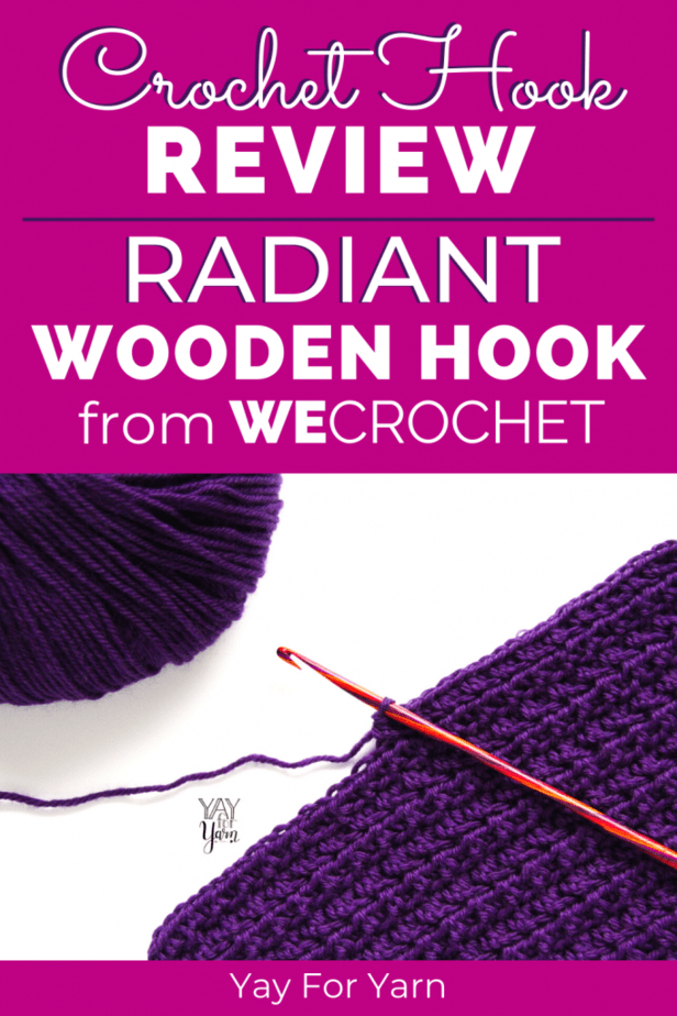 This Laminated Birch Crochet Hook from WeCrochet is one of the best wooden crochet hooks I have ever tried! See how it compares to other popular brands, and what I think of the hook shape, quality, and price. #crochethooks #crochet #crochettips