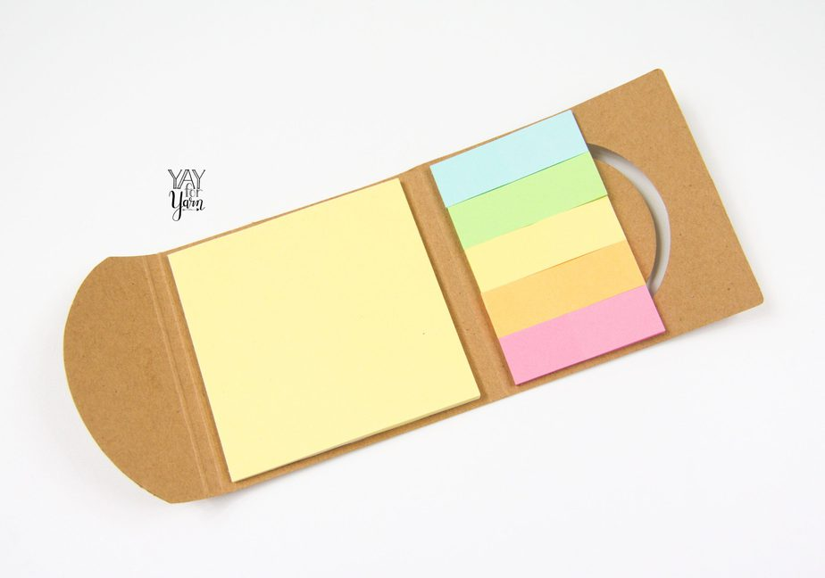 pack of various sticky notes and sticky note flags