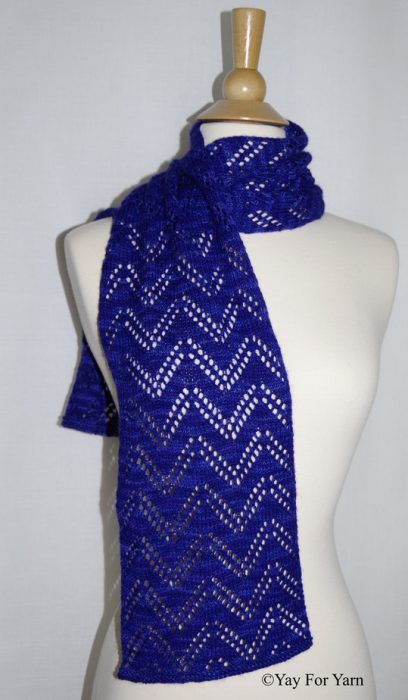 Double Chevron Lace Scarf - Knitting Pattern by Yay For Yarn