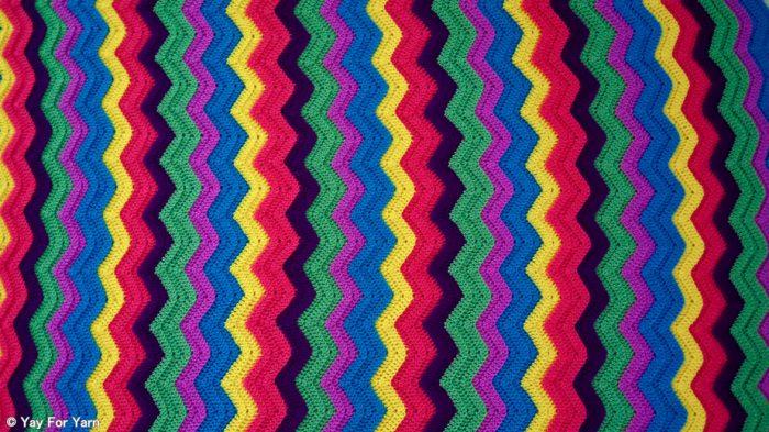 Free Crochet Pattern - Rainbow Ridge Afghan by Yay For Yarn
