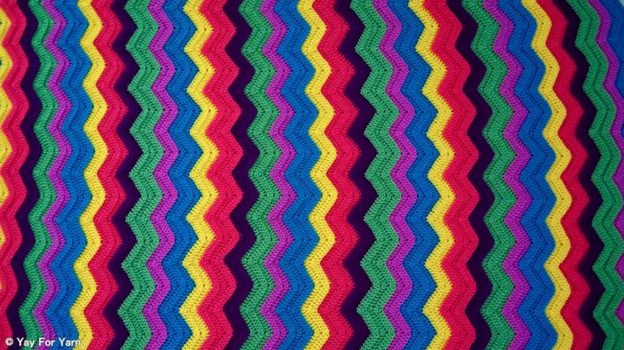 Free Crochet Pattern - Rainbow Ridge Afghan by Yay For Yarn