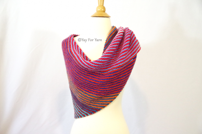 Double Gradient Boomerang Shawl | Free Knitting Pattern by Yay For Yarn