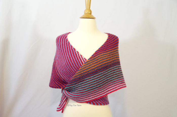 How to Knit a Double Gradient Boomerang Shawl | Yay For Yarn