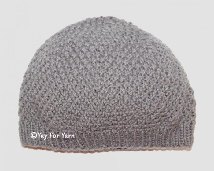 Moss Stitch Hat - Sport / DK Weight Version - Free Knitting Pattern by Yay For Yarn