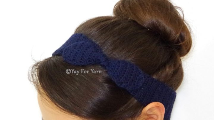 Knotted Bow Headband - FREE Fully Customize-able Crochet Pattern