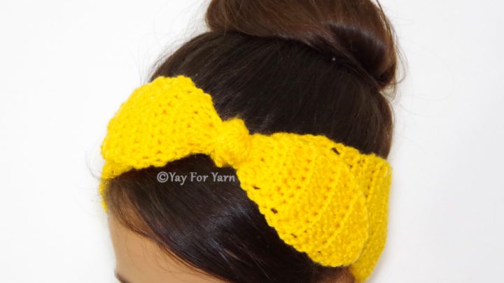 This sweet, yet simple headband is quick and easy to make!