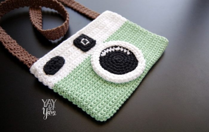 Learn how to Crochet this adorable Camera Purse!