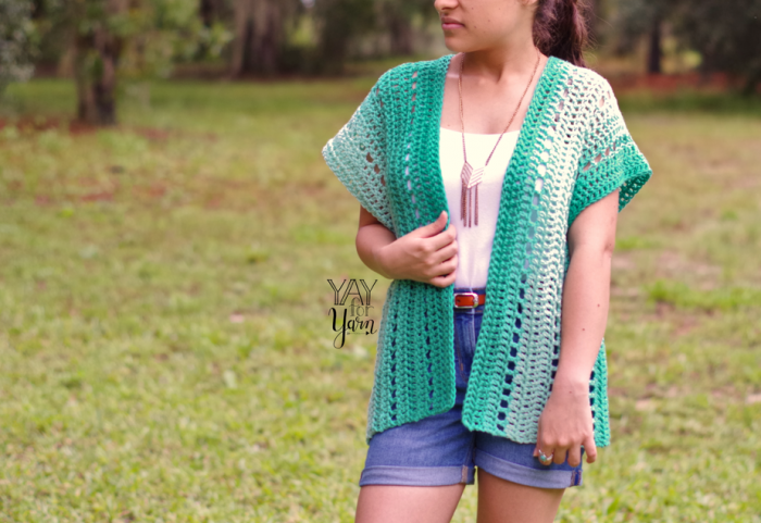 A quick and easy summer cardigan crochet pattern, perfect for beginners.