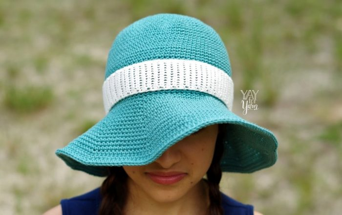 Floppy hat crochet pattern for babies, kids, and adults