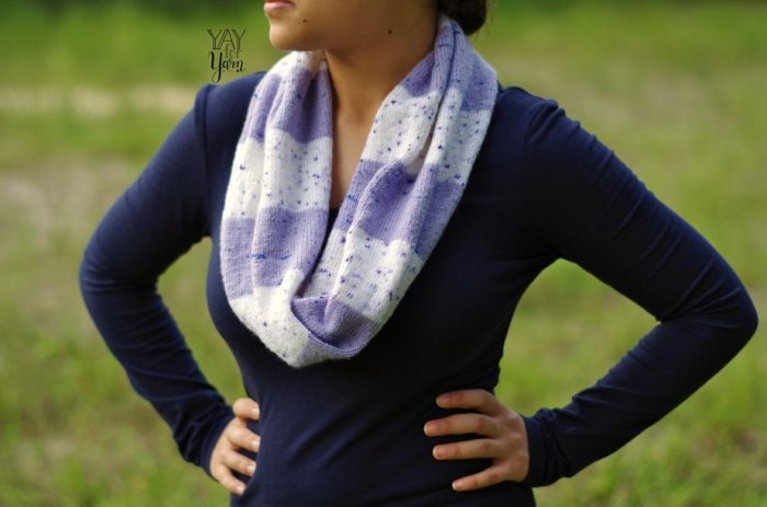 free fingering weight infinity scarf knitting pattern