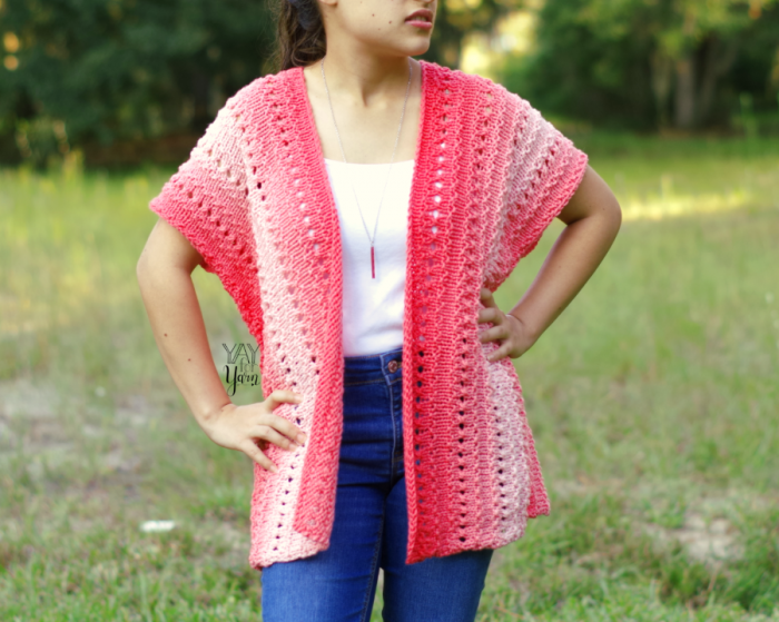 easy spring summer fall cardigan knitting pattern free