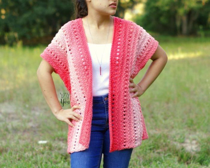 easy spring summer fall cardigan knitting pattern free
