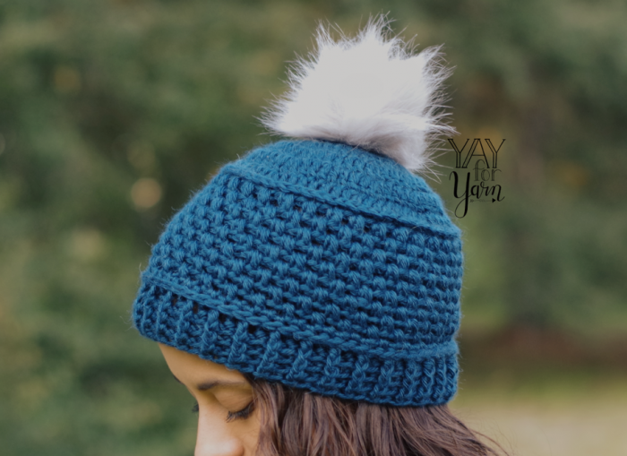 Puff Stitch Hat Crochet Pattern in 10 Sizes