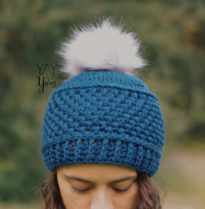 textured puff stitch beanie - great for fall winter markets