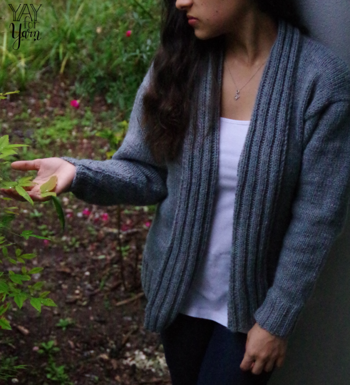 Simple Slouchy Sweater - FREE Knit Cardigan Pattern