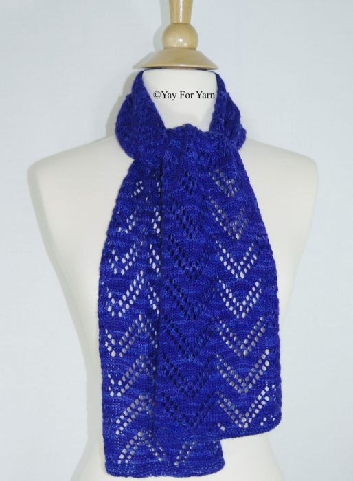 Knitting Pattern for the Double Chevron Lace Scarf