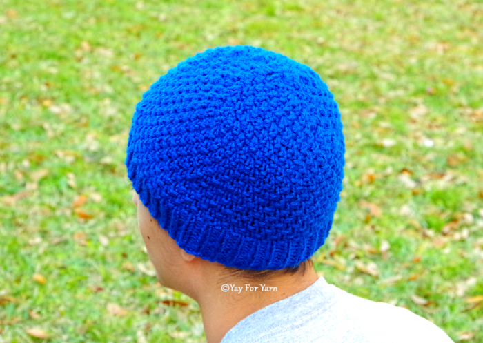 Moss Stitch Hat in 10 Sizes - Worsted or Sport / DK Weight Yarn - FREE Knitting Pattern by Yay For Yarn