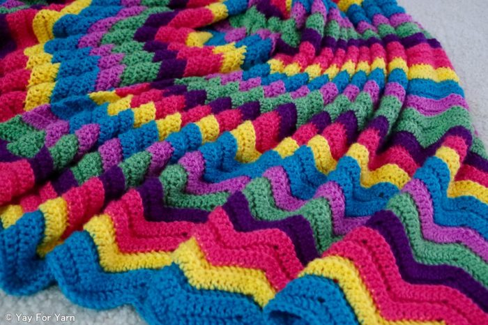 Rainbow Ridge Blanket - Free Crochet Pattern - Any Size