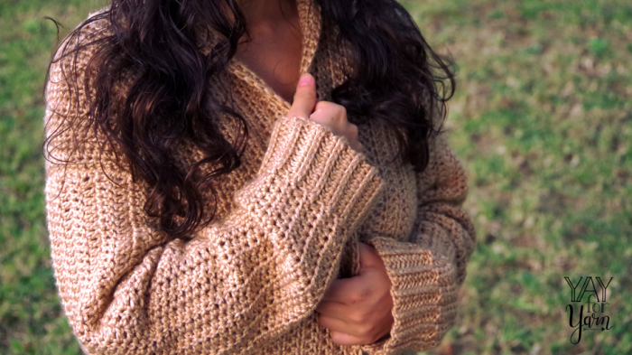 If you can crochet a rectangle, you can make this soft, cozy cardigan!
