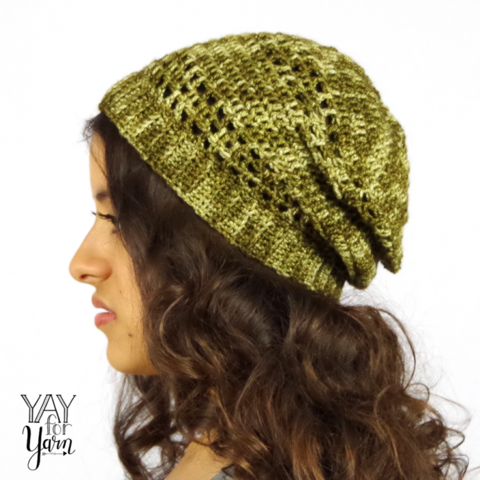 Dots & Dashes Slouchy Hat Crochet Pattern | Yay For Yarn