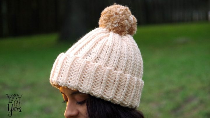 Knit-Look Crochet Hat - Quick & Easy FREE Crochet Pattern - Size Preemie to Adult | Yay For Yarn