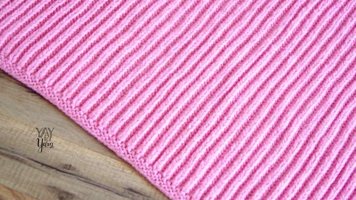 Easy Brioche Baby Blanket in SHORTCUT Brioche Stitch - Free Knitting Pattern & Video Tutorial