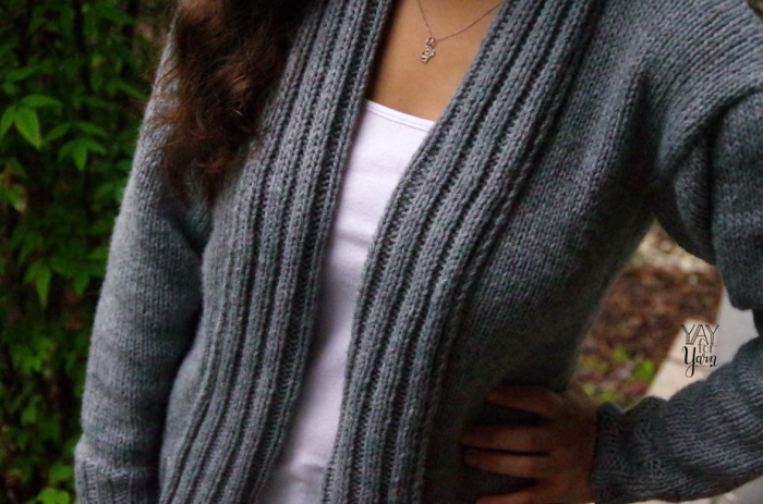 This sweater pattern is relatively simple, and is approachable for a confident beginner knitter.
