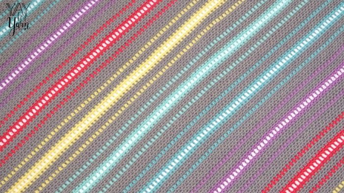 Watercolor Skies - Corner to Corner Rainbow Moss Stitch Afghan - FREE Crochet Pattern